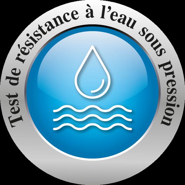 Test de résistance à l'eau sous pression